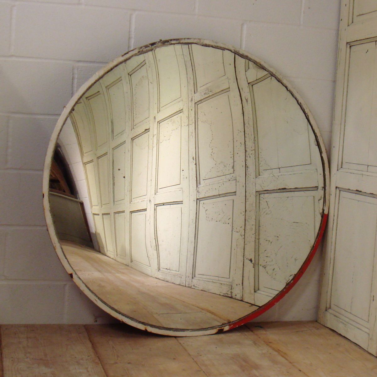 Large Industrial Convex Mirror In Original Condition  Stock  Dean  Antiques Ltd, Howard And Sons Chairs And Sofas