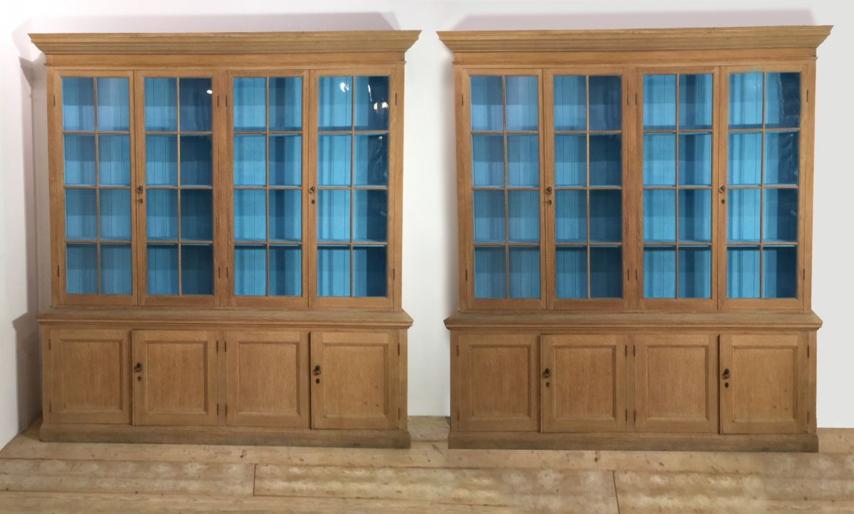 Pair English Oak Bookcases From The The Royal Veterinary
