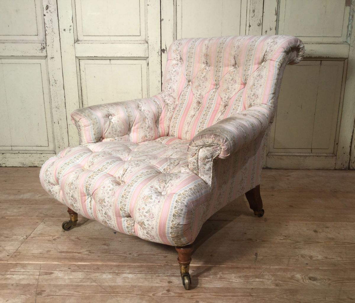 Early 19thc Button Back Howard And Sons Armchair Stock